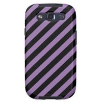 Bellflower Violet And Oblique Black Stripes Samsung Galaxy S3 Cases from Zazzle.com