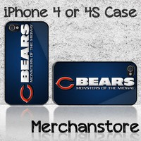 Chicago Bears Monster Of The Midway Custom iPhone 4 or 4S Case Cover