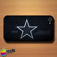 Metal NFL Dallas Cowboys NFL Team Logo Custom iPhone 4 or 4S Case Cover