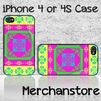 Unique Ornament Pattern Colourful Custom iPhone 4 or 4S Case Cover