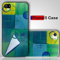 Retro Geometric 1960s Abstract Vintage Art Custom iPhone 5 Case Cover