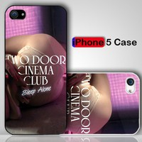 Sleep Alone Two Door Cinema Club Beacon Custom iPhone 5 Case Cover