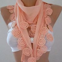 Cotton Scarf  Gorgeous Scarf Salmon pink Scarf