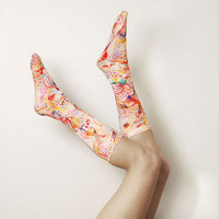 Strathcona Stockings — Watercolour Printed Socks