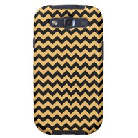 Beeswax Color And Black Zigzag Chevron Pattern Samsung Galaxy SIII Cases from Zazzle.com