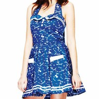 Hell Bunny Avast Dress - Blue