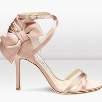Jimmy Choo Blush Silk Satin Sandal - &amp;#36;189.00