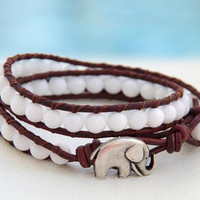 Hannibal... Leather wrap bracelet... Original OceanBead style.