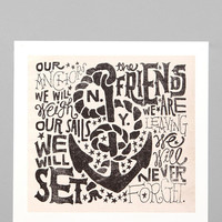 Jon Contino For Society6 Anchors Away Print