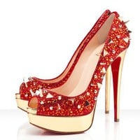 Christian Louboutin Very Mix 150mm Red 