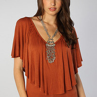 The Klute Viscose Top in Burnt Orange