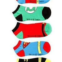 DC Comics Superhero No-Show Socks 5 Pair - 197632