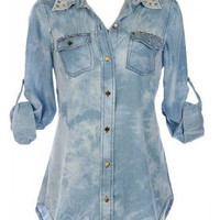 Acid Wash Top - Kely Clothing