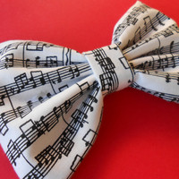 Music Notes Hair Bow, Girl Hair Bow