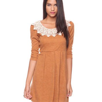 Lace Neckline Dress