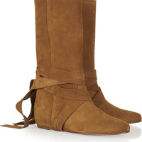Michael Kors Suede boots – 65% at THE OUTNET.COM