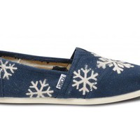 Gabriel Lacktman Hand-Bleached Snowflake Navy Women&#x27;s Classics | TOMS.com