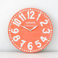 Reserved for Mirry Vintage clock -London coral- writing customization