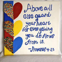 Proverbs Quote Wall Art  W/ Beading Detail