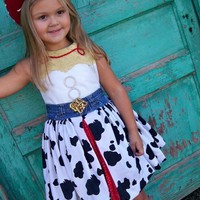 Jesse Inspired Dress, Toy Story Costume, Jesse Costume, Cowgirl Dress