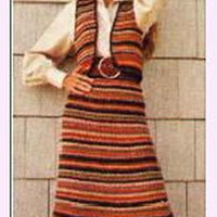 Vintage Striped Bolero and Matching Skirt Crochet Pattern | Los Angeles Needlework