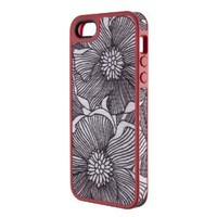 Amazon.com: Speck Products FabShell Fabric-Covered Case for iPhone 5 - Retail Packaging - FreshBloom Coral Pink/Black: Cell Phones & Accessories