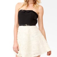 Rosette Tube Dress w/ Belt | FOREVER21 - 2027705079