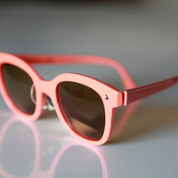 Vintage Wayfarer Sunglasses Light Coral/ Chrome by by gpnexxus