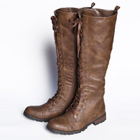 continental crossroads knee-high lace-up boots - $79.99 : ShopRuche.com, Vintage Inspired Clothing, Affordable Clothes, Eco friendly Fashion