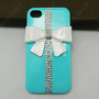 Bling bling wihte bows iphone 5 case iphone 4 case  pink bows gifts case HTC case i9300 case