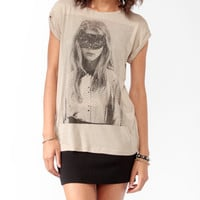 Masked Girl Photo Tee
