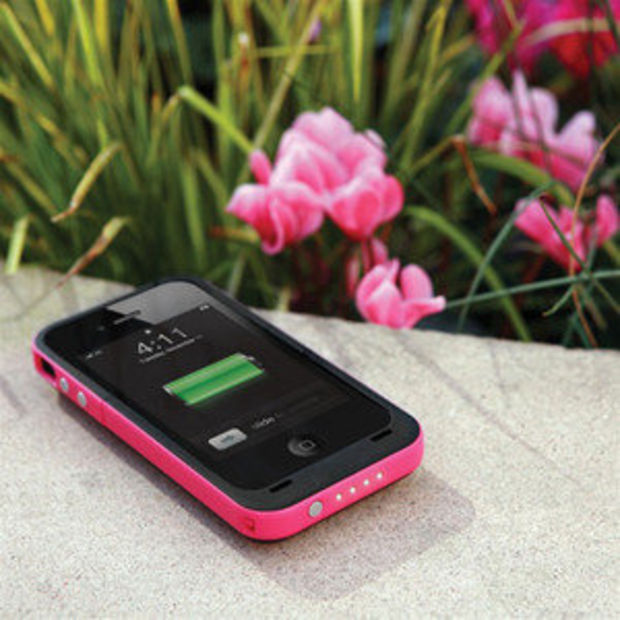 2000 mAh Charging External Charger Backup Battery Case for iPhone4 4GS 4S Pink