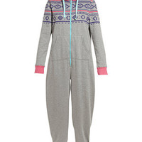 Grey Fairisle Heavyweight Onesuit