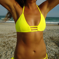 Whimbrel triangle bikini top
