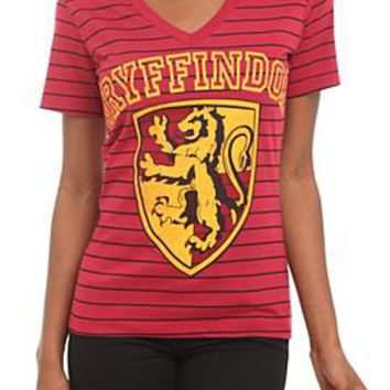 Harry Potter Gryffindor Striped Girls T-Shirt - 186416