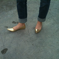 Bewitched (Vintage Metallic Gold Slippers)