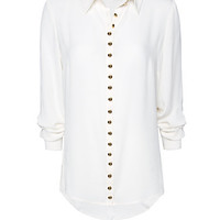 MANGO - CLOTHING - Tops - Studs chiffon shirt