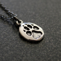 Wolf Track Necklace in Sterling Silver