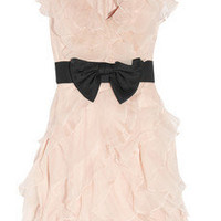Notte by Marchesa|Ruffled silk-organza and tulle dress|NET-A-PORTER.COM