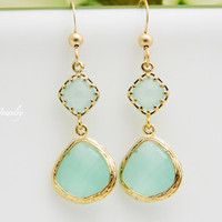 Mint Dangle Earrings