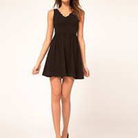ASOS Skater Dress With Scallop Neck at asos.com