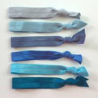 Elastic Hair Ties Set of 6 Ocean Waves Doubles as a Bohemian-Chic Bracelet Fashion Accessorie by Bloomingdeals