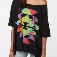 simple triangles oversized tee. $24.99
