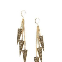 MANGO - ACCESSORIES - Jewellery - Embossed pyramid earrings