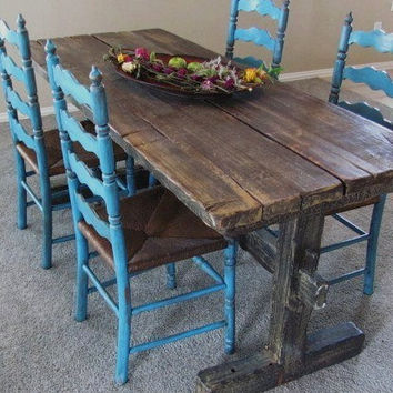 Rustic Buffet Table by thevintagerefinery on Etsy