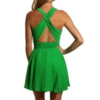 Cross Back Dress - Kely Clothing
