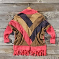 Clear Lake Blanket Sweater, Sweet Navajo Inspired Clothing