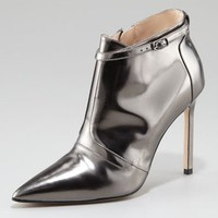 Women&#x27;s Manolo Blahnik Istbofac Metallic Leather Ankle Boot