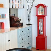 Charlie Turner Design Red Classic Clock
