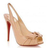 Lady Bow - Champagne Christian louboutin $148,distinguished shoes brand on-line shop, such as GIVENCHY,Yves Saint Laurent, Sergio Rossi.
